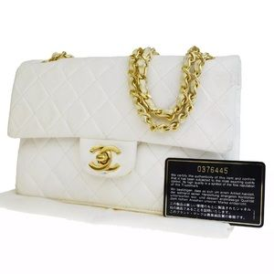 Authentic CHANEL Double Flap Matelasse Quilted Bag